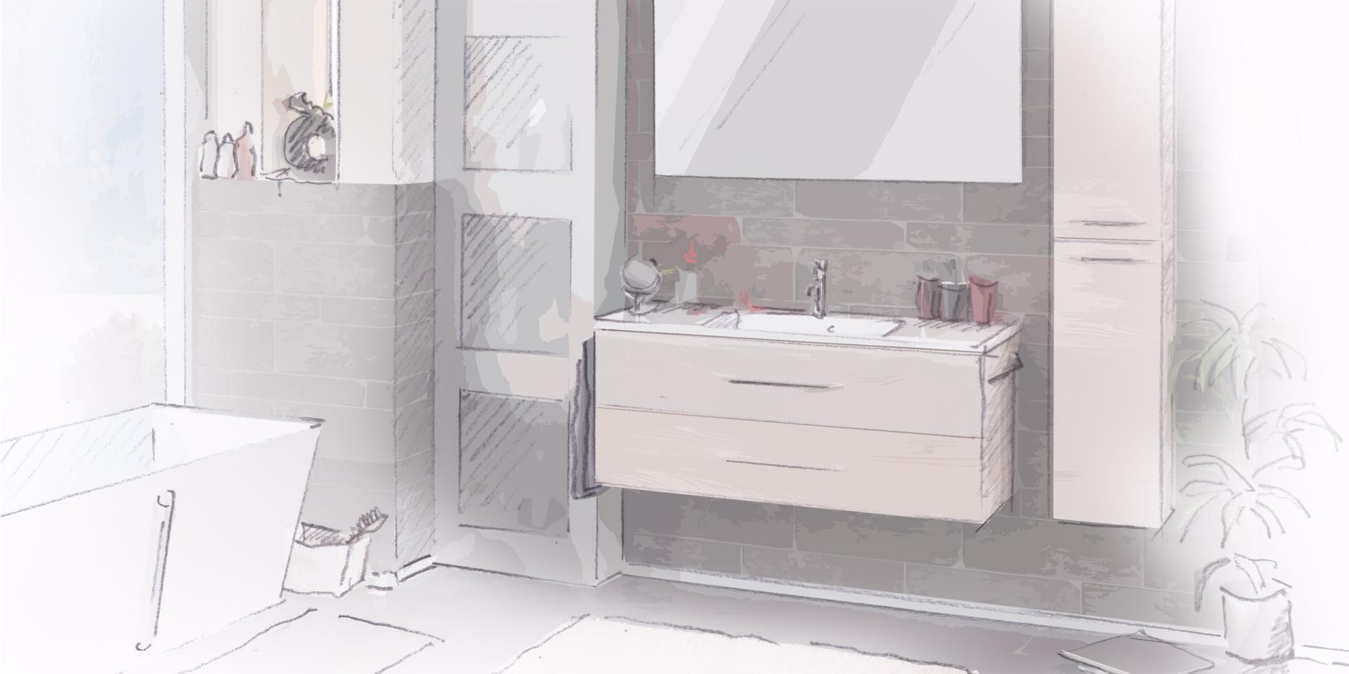 Badmobel Serie Milano Zur Einfachen Selbstmontage
